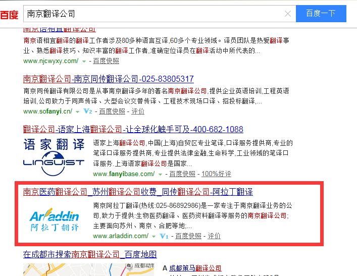 南京翻译公司排名案例